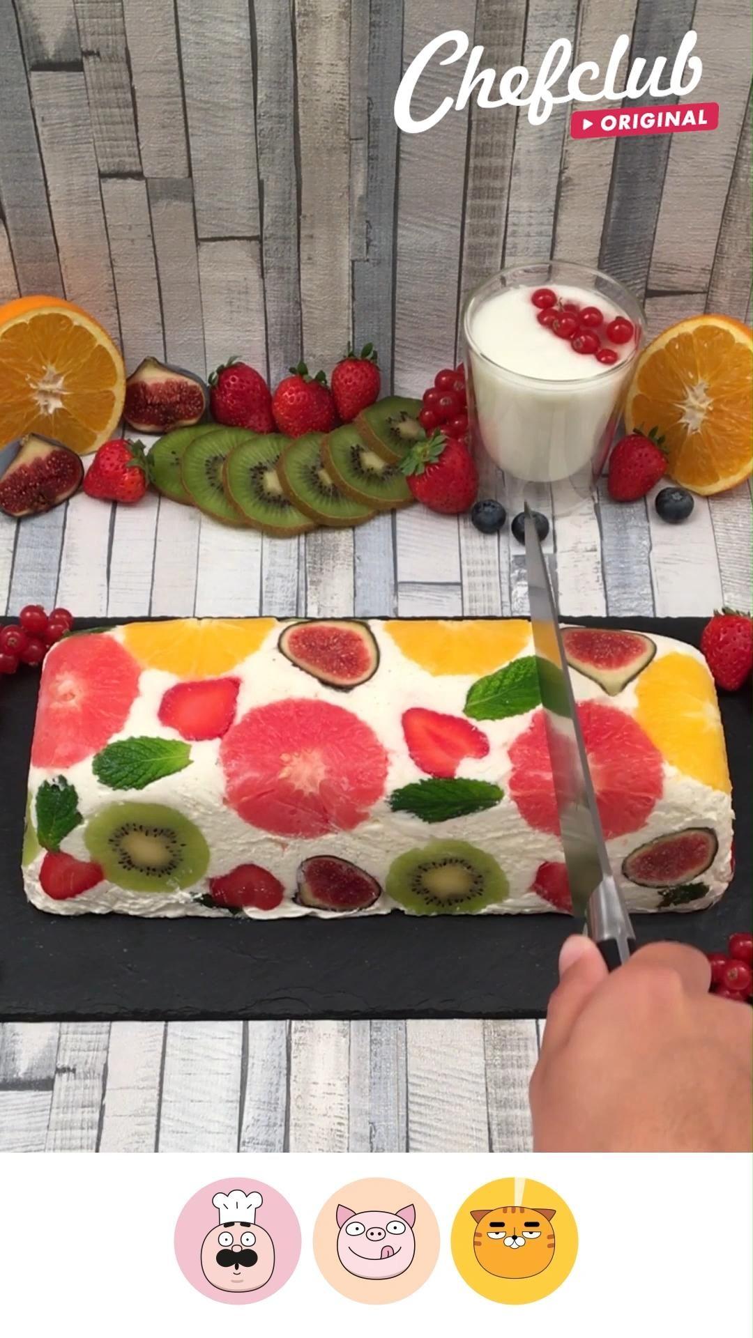 Cake glacé fruité tout léger