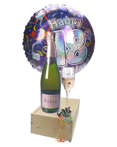 18th Birthday Rose Champagne Flute Gift