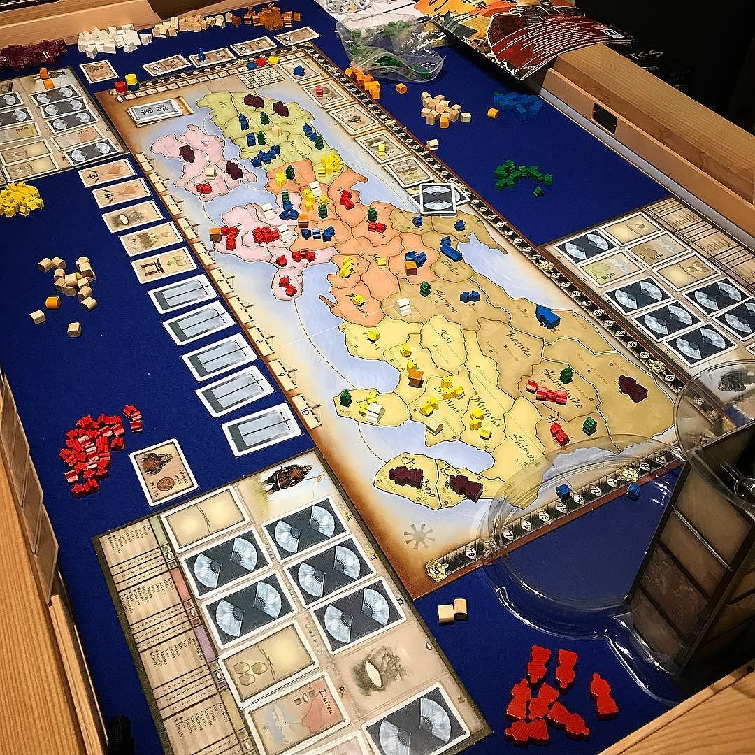 Shogun A Welcome Return To The Table For Epic Friday Gaming Night Something About This Game That Just Works For Our Group T Board Games Creating Games Games