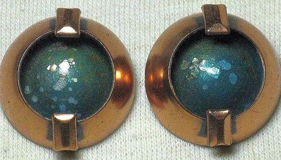 MATISSE Copper and Enamel Modernist by delightfullyvintage on Etsy, $34.00