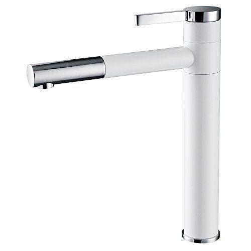 Waschtischarmatur Hoch Wasserhahn Bad Weiss Armatur Chrom Badzimmer