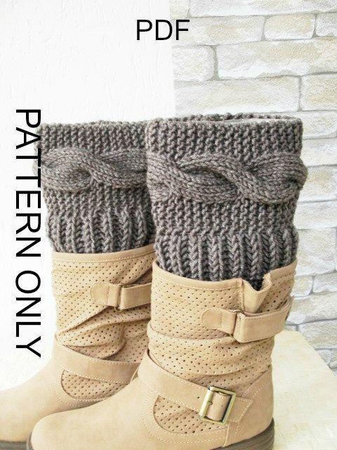 Knitting Pattern Boot Cuffs Pattern Digital Boot Toppers Pattern