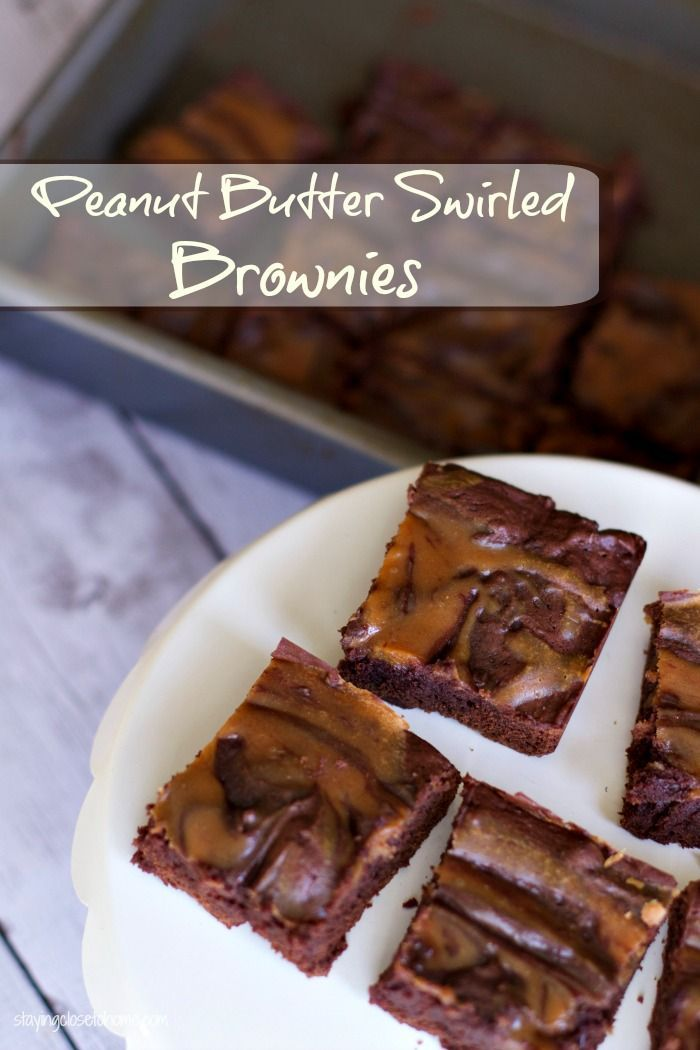 Low Fat peanut butter swirled brownies recipe are filled with protein when you #StartWithJifPowder (ad).  A great way to still eat desserts and eating clean.