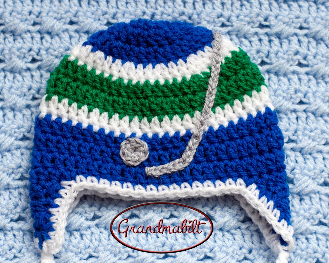 BABY BOYS HOCKEY Blue Green Hockey, Baby Hockey Crochet, Hockey Baby ...