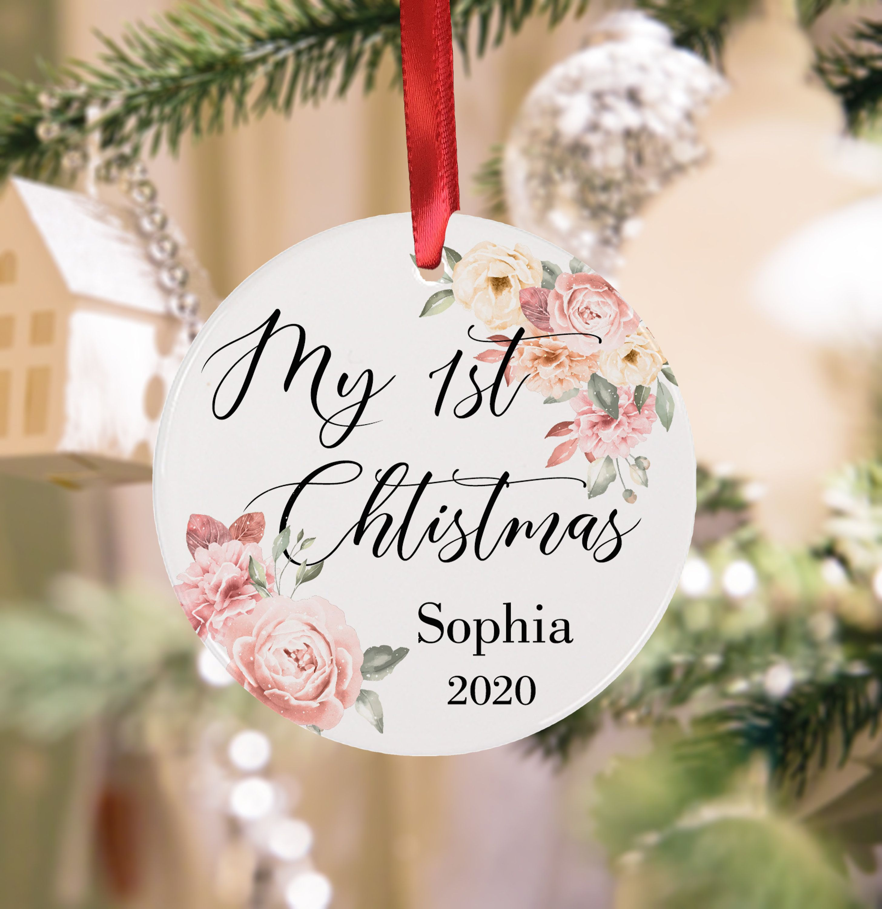 Personalized My First Christmas Baby Ornament Christmas Ornament Keepsake Christmas Ornament Baby Christmas Decorations Christmas Keepsakes Memorial Ornaments