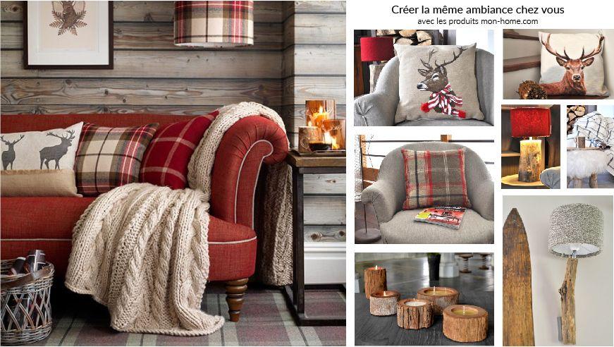Créer une décoration chalet chic - Salon classique et cosy | Chalet ...