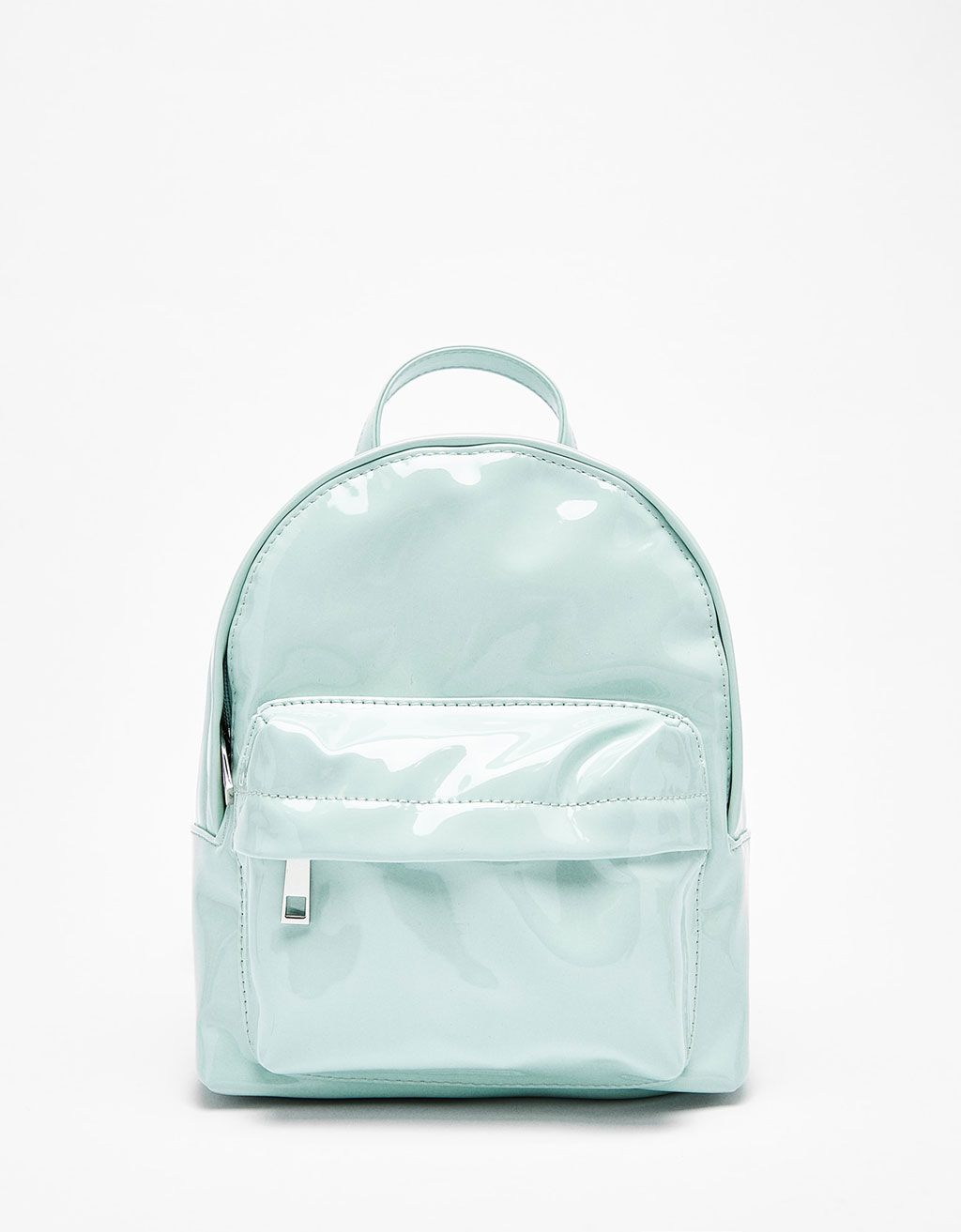 89876b580b6d Patent finish mini backpack - Bags - Bershka Croatia