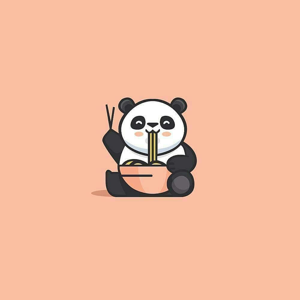 Panda Eating Logo Design Modern Logo Design Vector Illustrator Follow Us Logoprofessional Cute Panda Wallpaper Panda Illustration Cute Cartoon Wallpapers