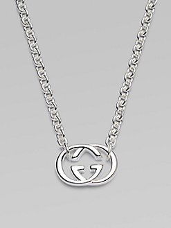 afbb9c6e23 Gucci Sterling Silver Double G Necklace Best | Products | Jewelry ...