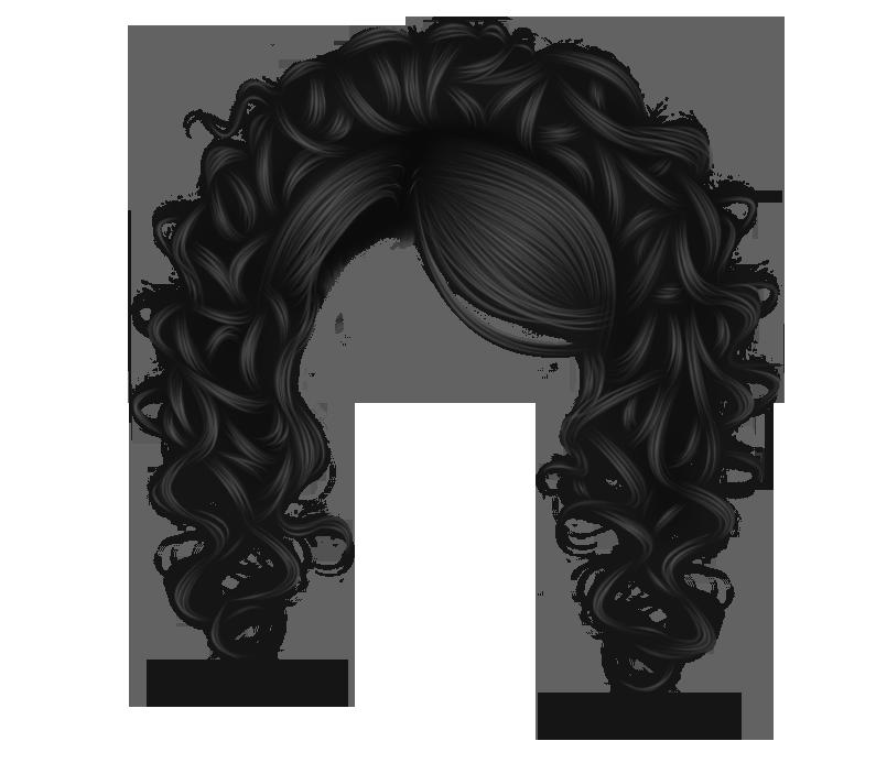 Pretty Curls Black By Hellonlegs Deviantart Com On Deviantart Hair And Beauty Salon Curls Manga Hair