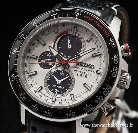 Seiko Sportura Perpetual Solar Chronograph V198 SSC359P1  28de527d672