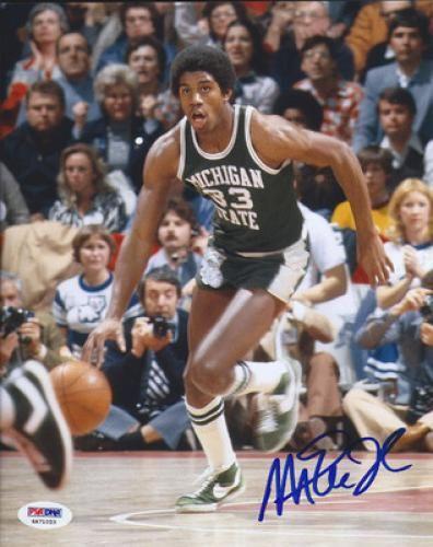 Magic Johnson Signed 8x10 Photo Sportsmemorabilia Michiganstatespartans Magic Johnson Sports Basketball Sports