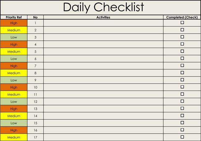 Checklist Templates Free Printable Checklists For Word Excel Checklist Template Templates Printable Free Checklist
