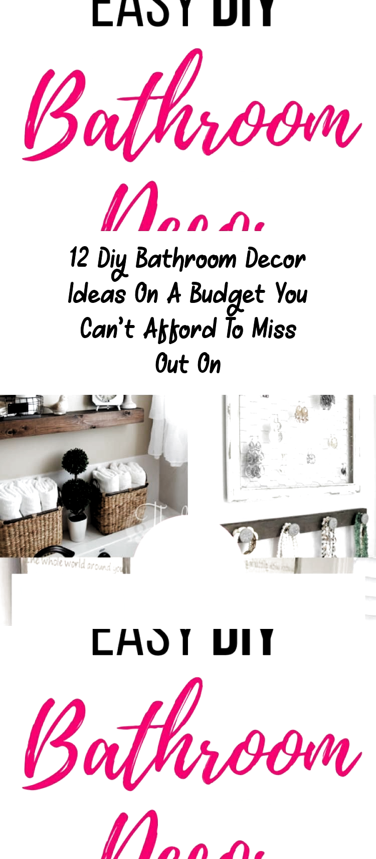 Photo of DIY Bathroom Decor Ideas that can be done with cheap Dollar Stores items! These …