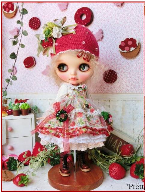 *Prettam*カスタムブライス**+.。*Sweet Lolita × very.very...strawberry~*+.。_画像