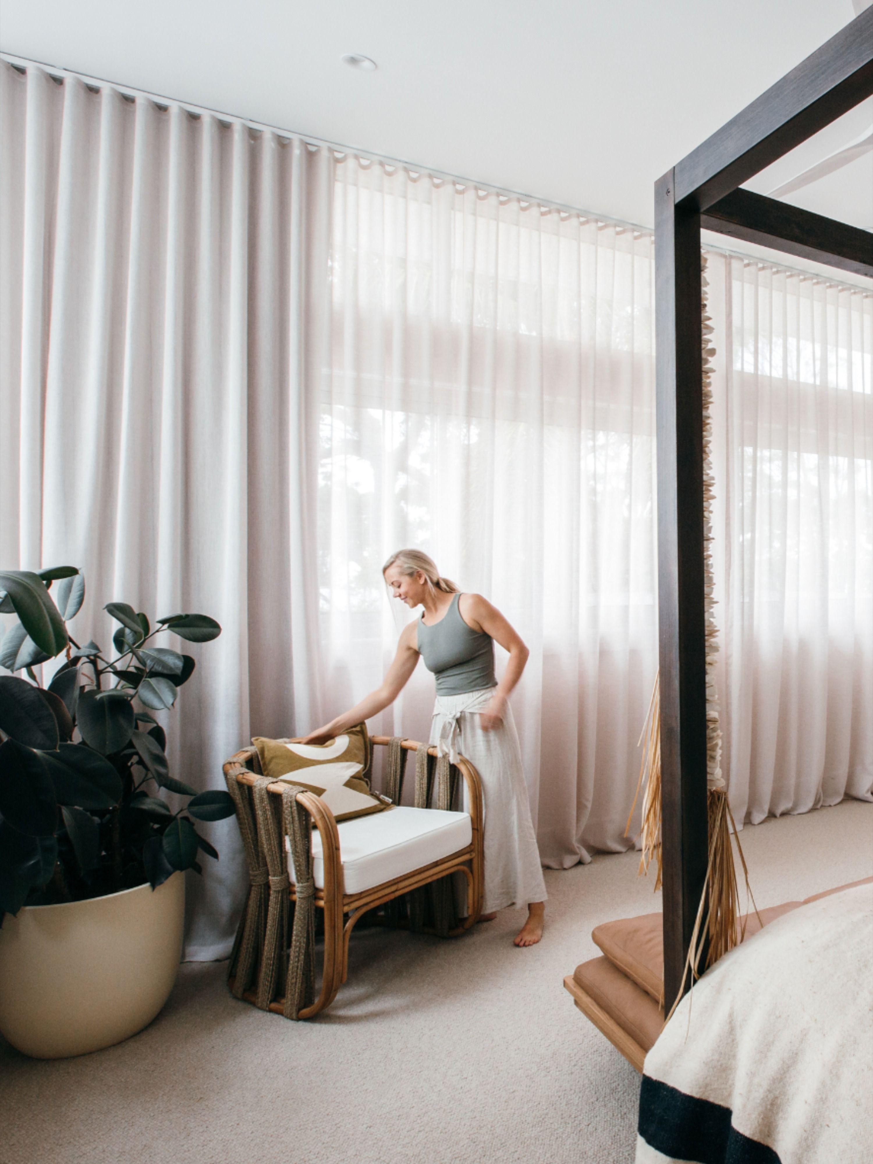 Master Bedroom Designer Curtains Blue Lagoon in 2020