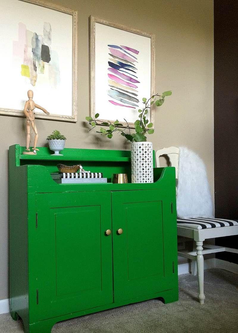 Comment Relooker Un Meuble Ancien Avec De La Peinture Verte- Idée Par Jenna  Burger