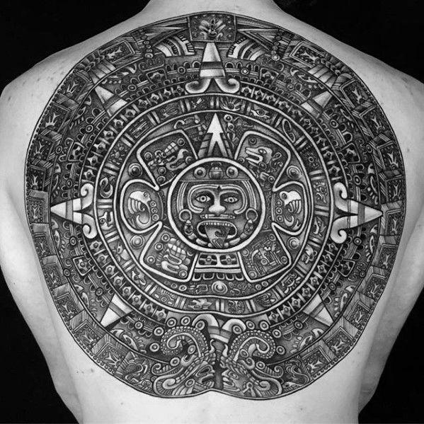 40 Mayan Calendar Tattoo Designs For Men Tzolkin Ink Ideas