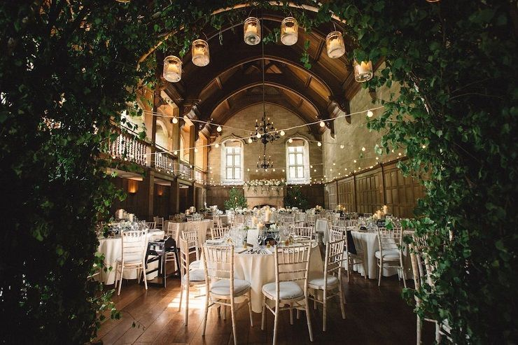 Wedding reception in castle #weddingreception #weddinginspiration #ukwedding #elegantwedding