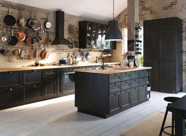 Cuisine Noire 19 Inspirations Et Conseils Pour Faire Le Bon Choix Cuisine Metod Ikea Cuisines Rustiques Modernes Amenagement Cuisine