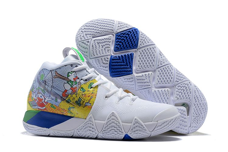"Nike Kyrie 4 ""Donald Duck"" White Yellow For Sale  852fe61e1"