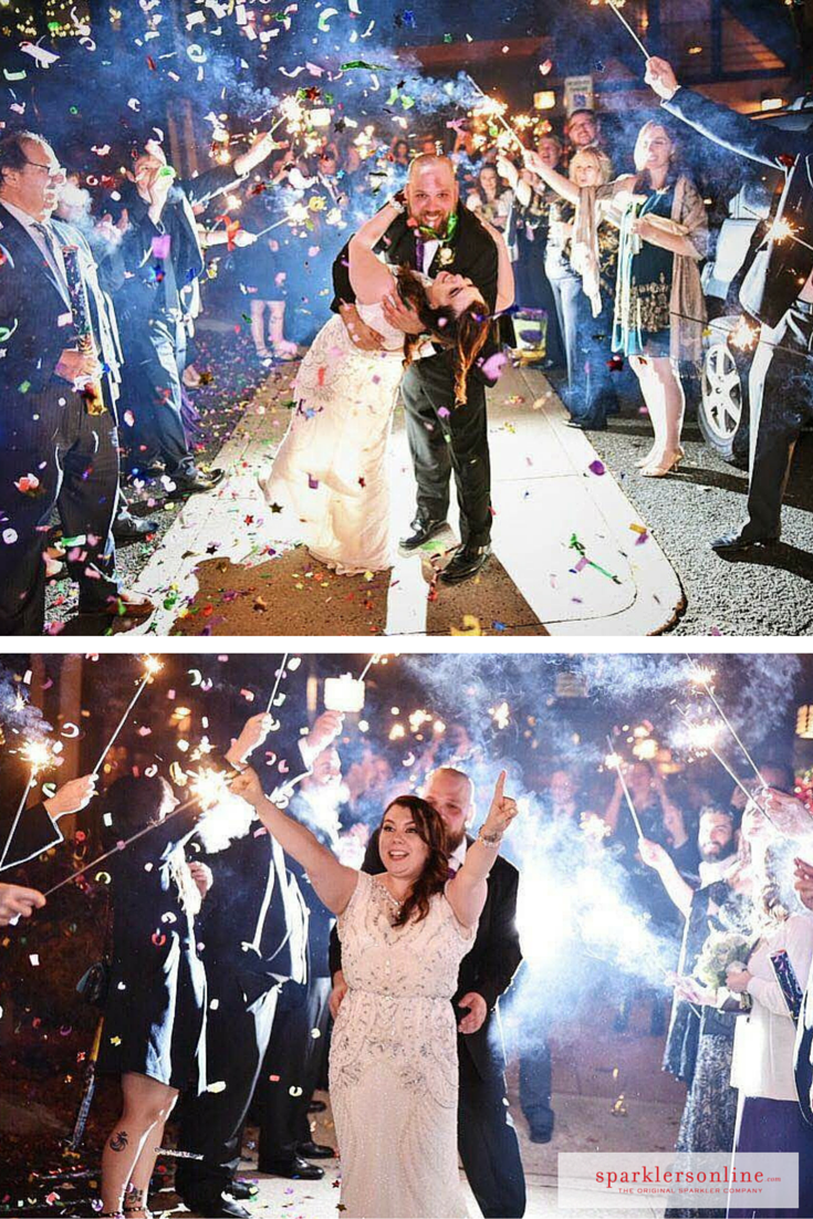 Have We Mentioned How Much Love Using Our Sparklers With Confetti Realbride Amy Mastered It