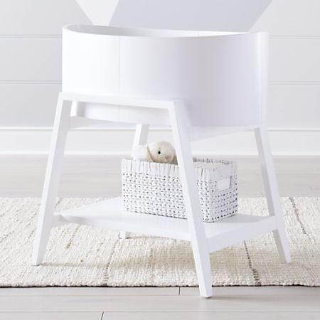 Ever Simple White Bassinet Bassinet Crib Accessories