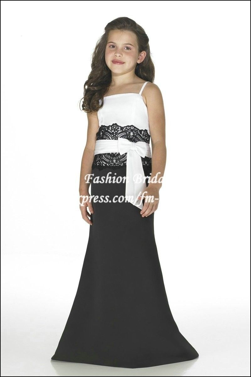 Black and white junior bridesmaid dresses dresses and gowns ideas