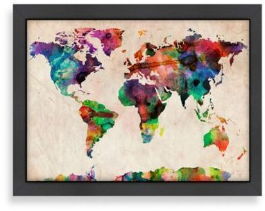 Americanflat world map splatter colour wall art maps and globes americanflat world map splatter colour wall art maps and globes pinterest color walls gumiabroncs Choice Image