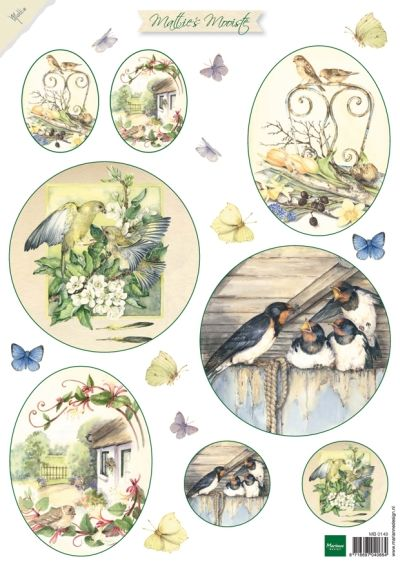 Mb0148 Mattie's Mooiste Flowers 1 (birds - Mattie de Bruine A4 - Knipvellen - Hobbynu.nl