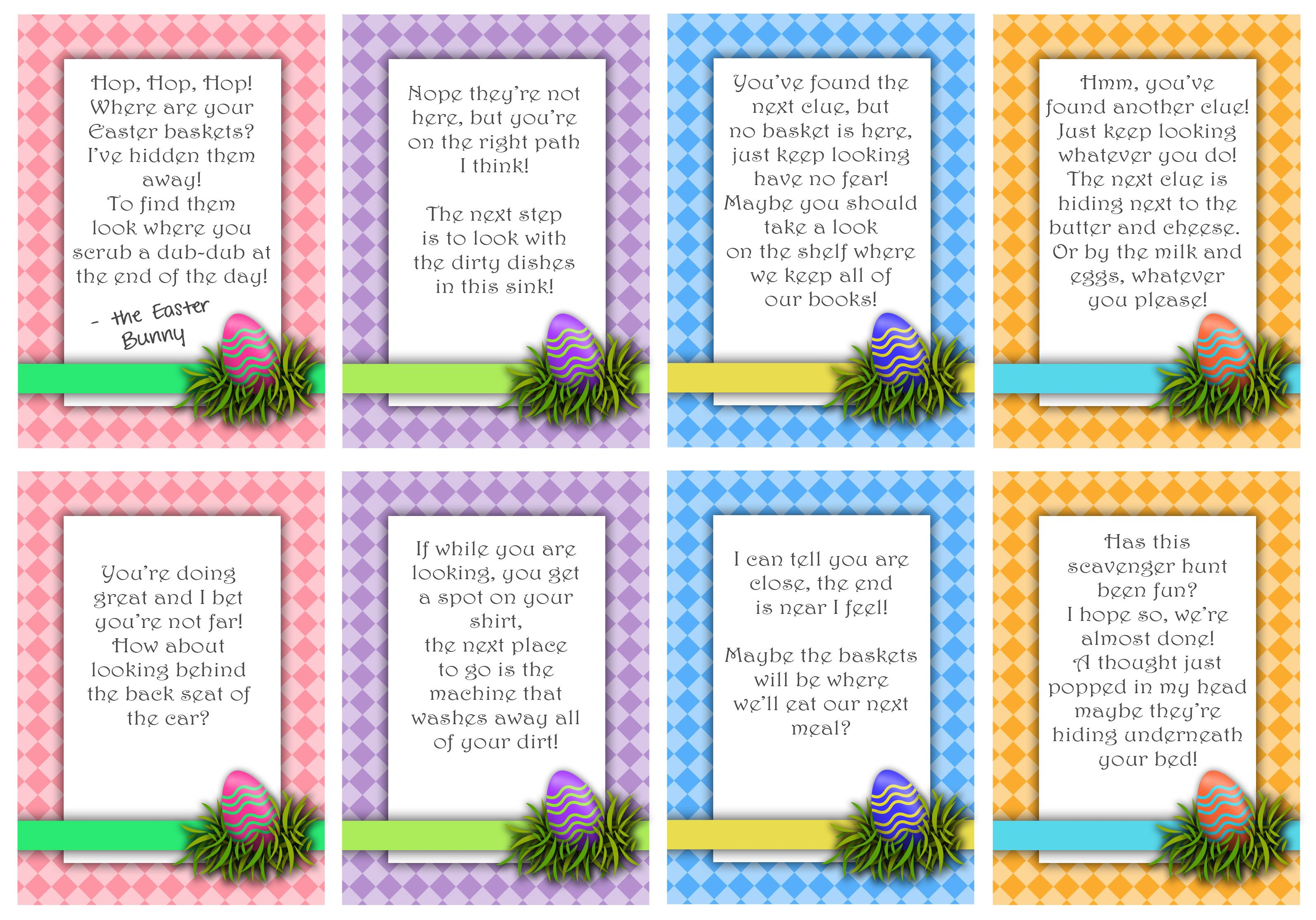 Easter basket scavenger hunt easter pinterest easter baskets print off these adorable easter basket scavenger hunt cards for an easy and fun activity send the kids off on an exciting easter scavenger hunt negle Choice Image