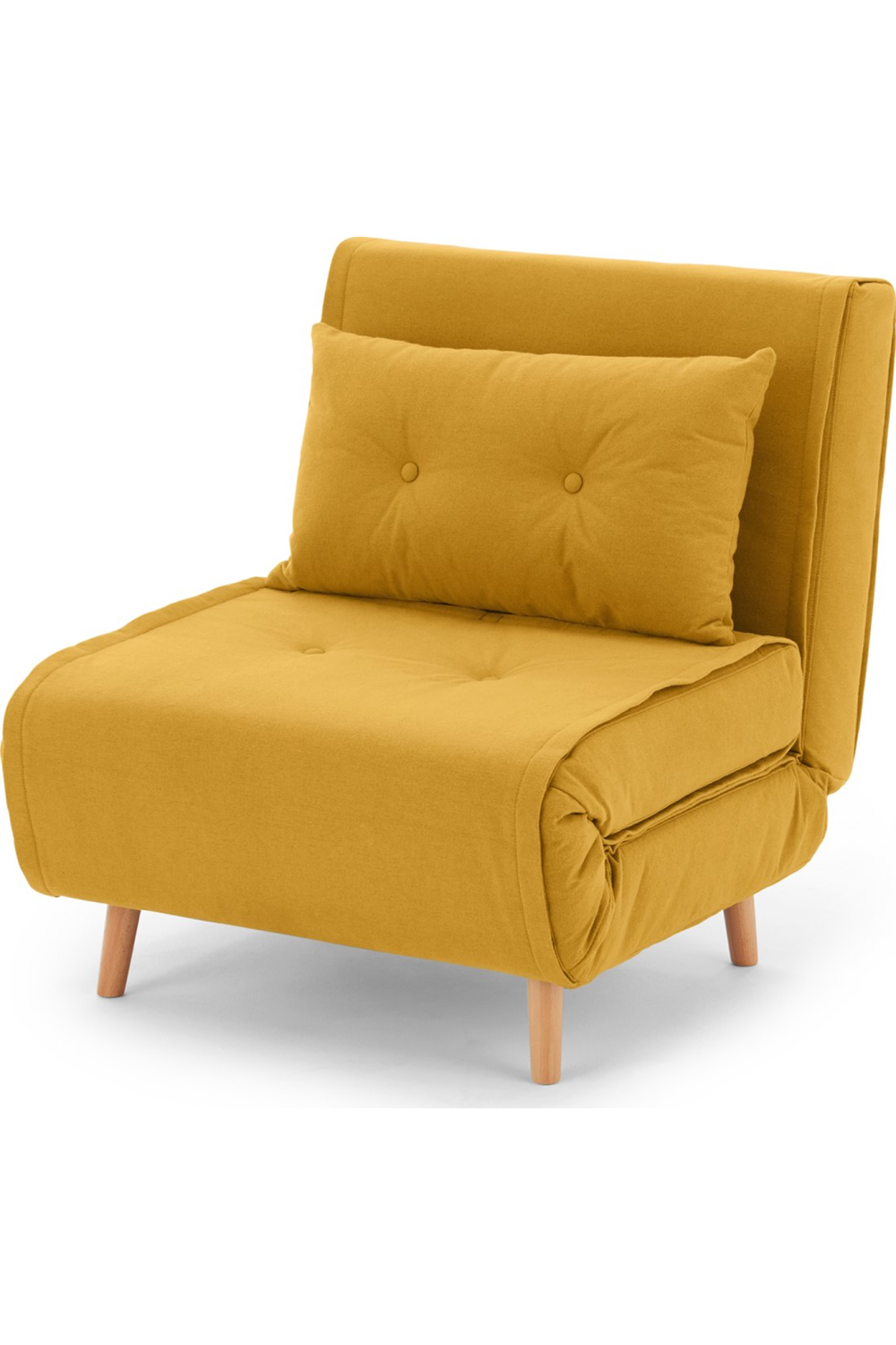 Made Schlafsofa Gelb Couch Chair Furniture