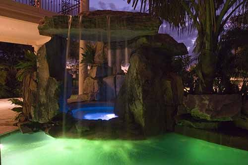 lagoon pool grotto waterfall by lucas lagoons in sarasota florida