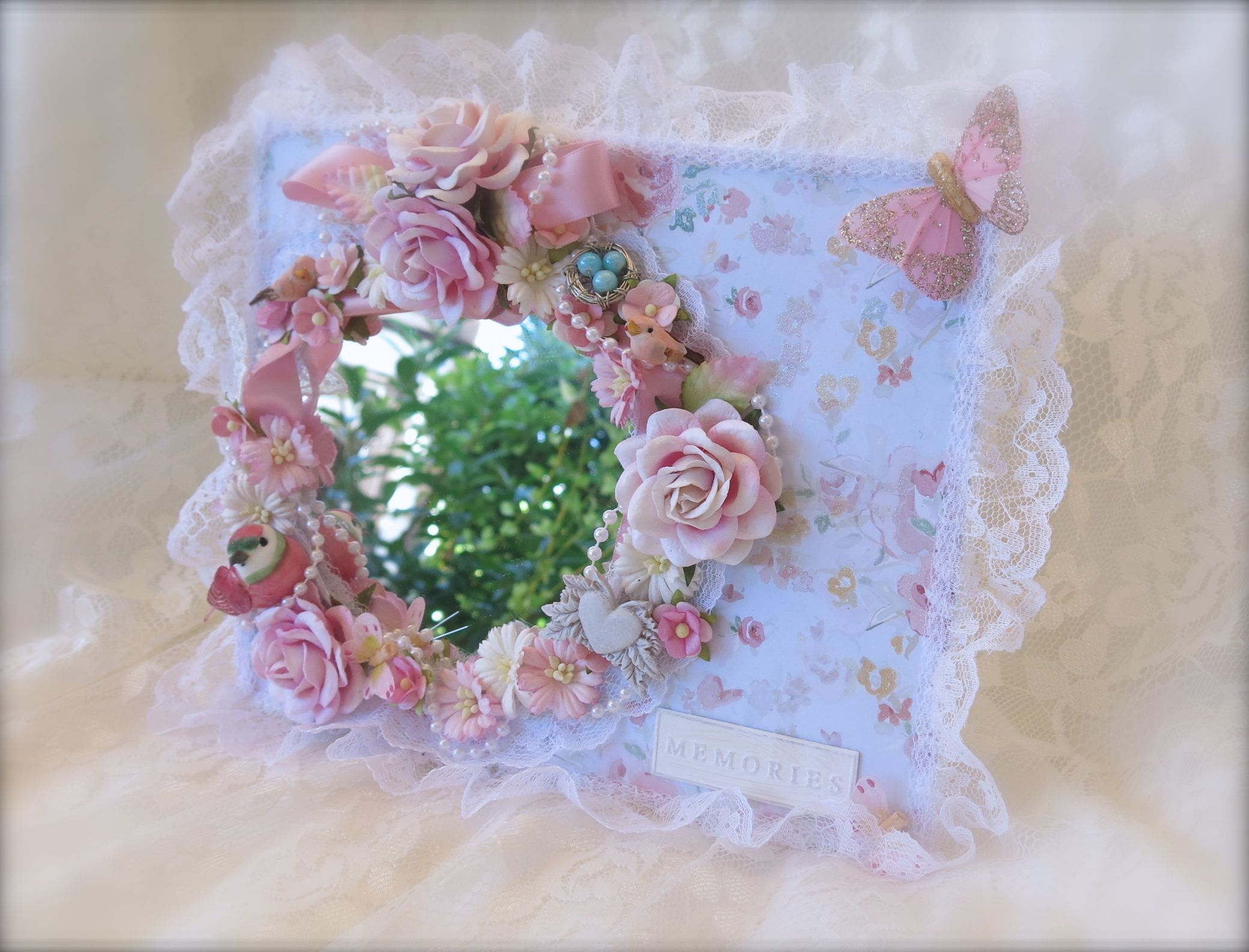 Shabby Chic Mirror - Scrapbook.com