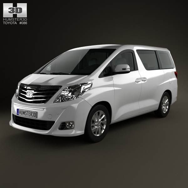 Toyota Sienna Rental: Toyota Alphard 2012 3d Model From Humster3d.com. Price