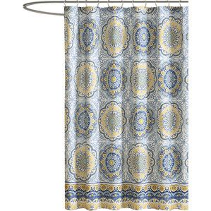 Tangiers Shower Curtain In Blue Blue Shower Curtains