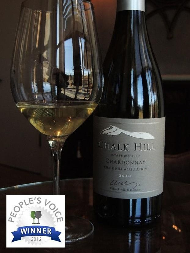 Chalk Hill Chardonnay Wins The Snooth People's Voice Award For The Super Premium Chardonnay Wine Category. Chalk Hill Estate. Healdsburg (Sonoma), California. FFWS News.