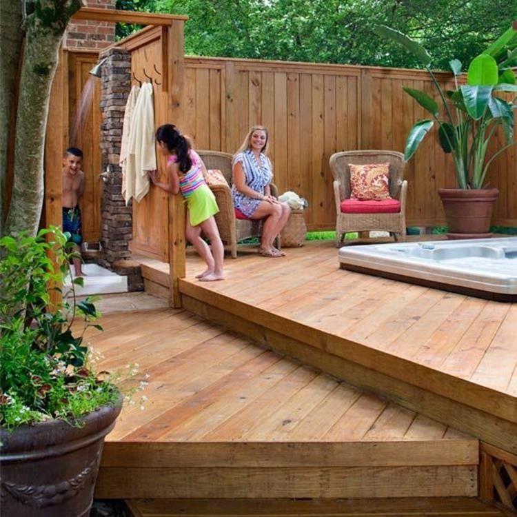 33 Modern Outdoor Hot Tub Privacy Ideas Hot Tub Backyard Hot