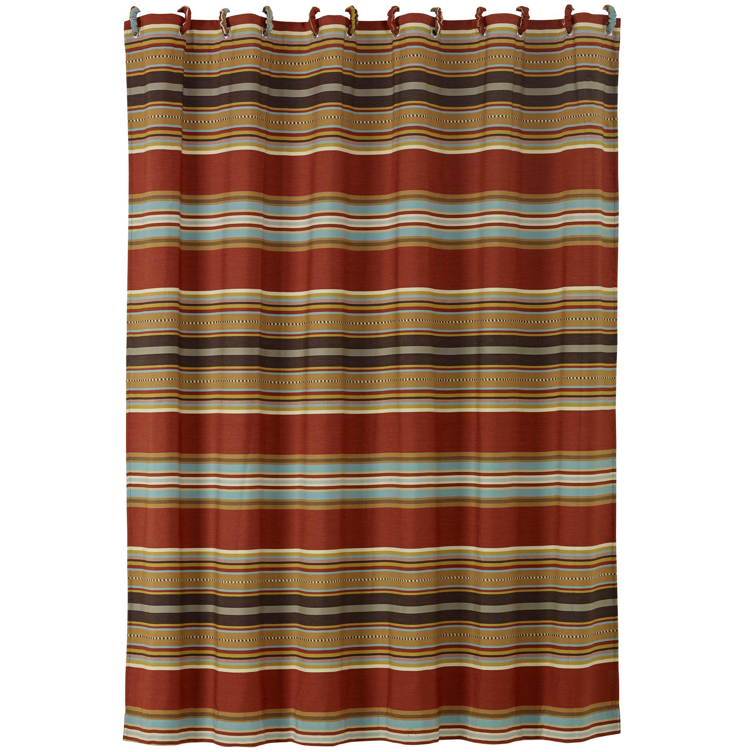 Hiend accents calhoun western shower curtain x learn more