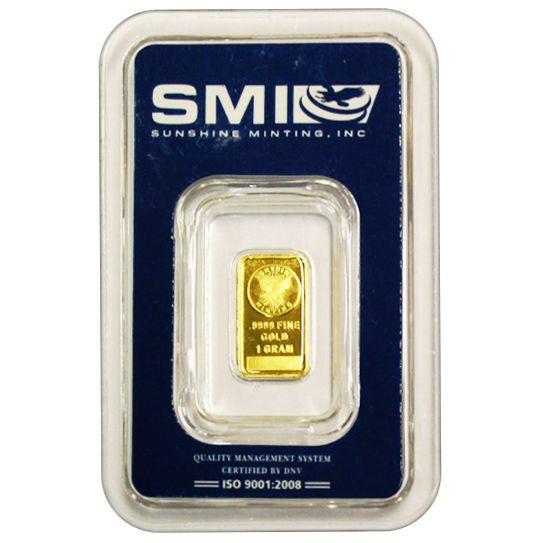 Ideal For Beginning Investors 1 Gram Sunshine Gold Bar New W Assay Gold Bullion Bars Gold Bar Gold Bullion