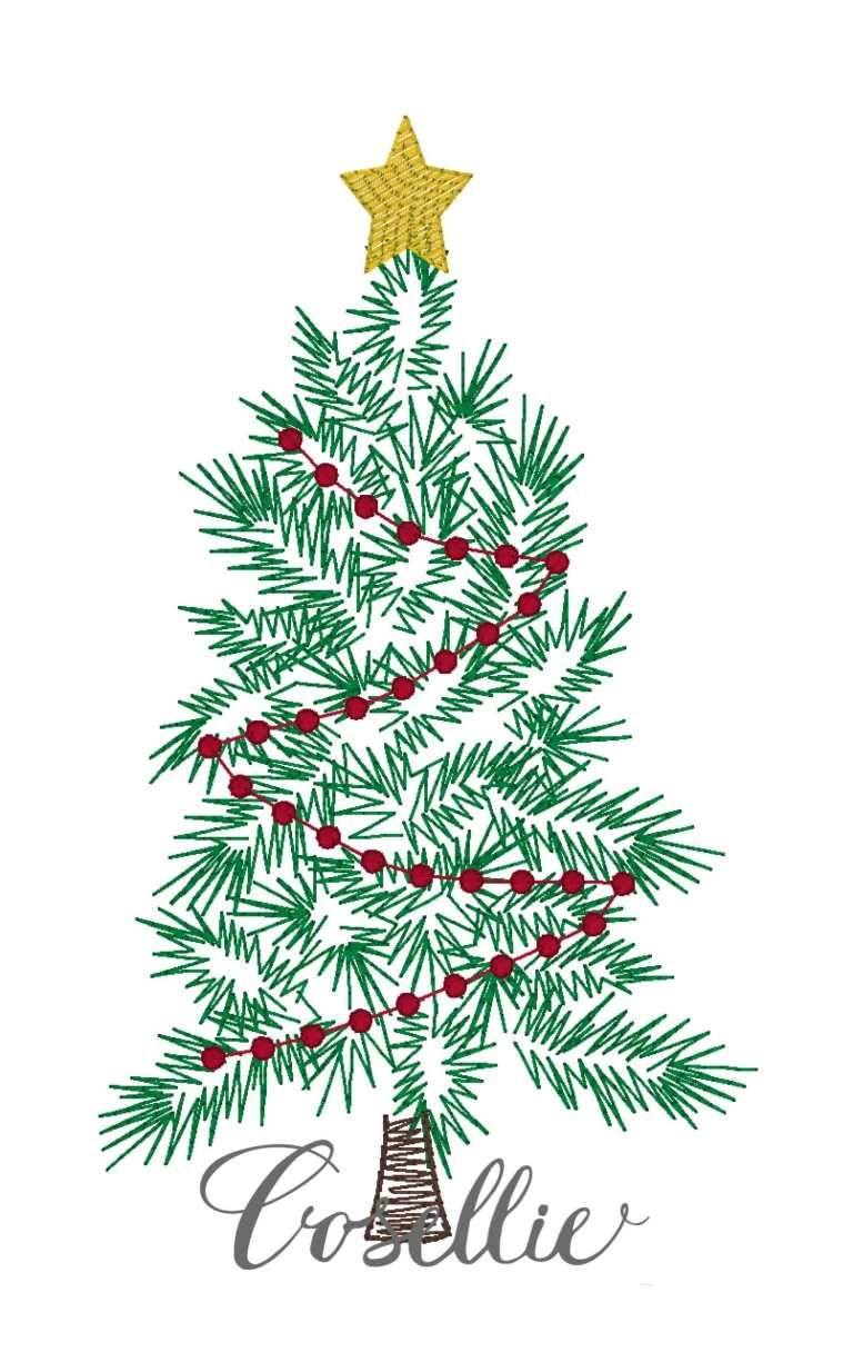Christmas Tree Embroidery Design Vintage Christmas Tree Cosellie Christmas Tree Embroidery Design Vintage Christmas Tree Christmas Embroidery Designs