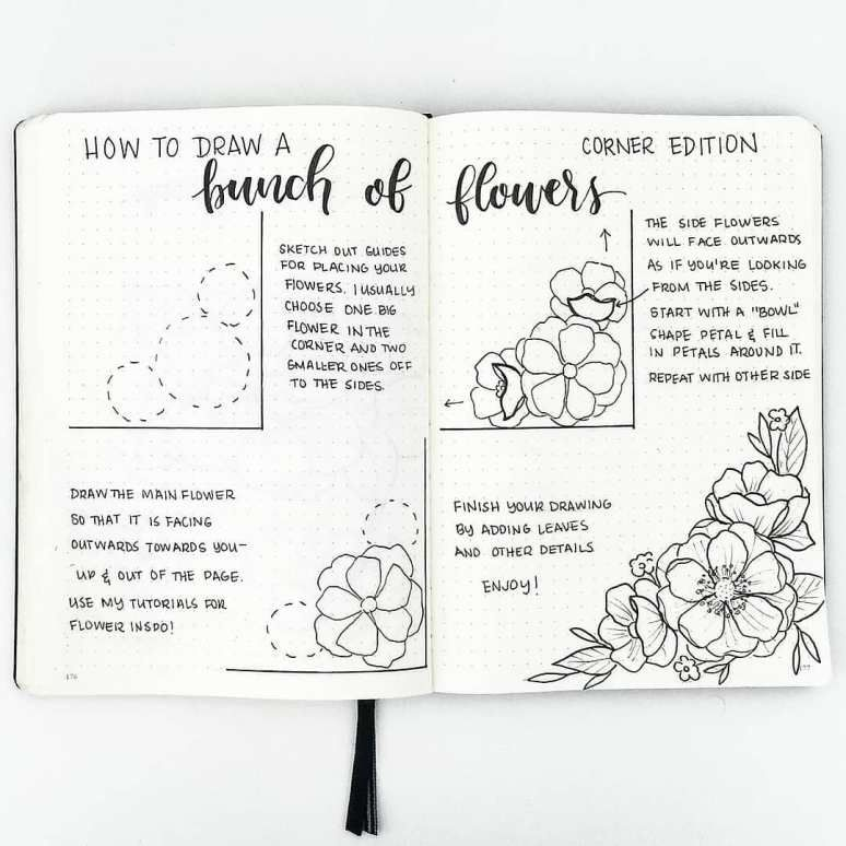 How To Draw Easy Flower Doodles For Bullet Journal Spreads Flower Doodles Flower Drawing Flower Drawing Tutorials
