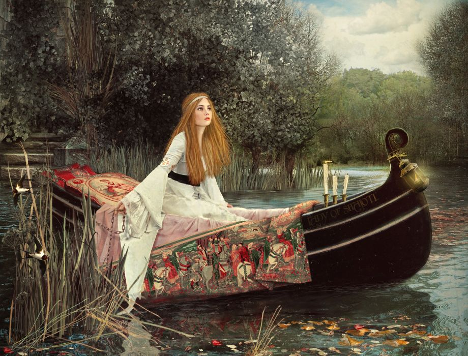 the lady of shalott by lilyenn on deviantart all whimsical pinterest deviantart and. Black Bedroom Furniture Sets. Home Design Ideas