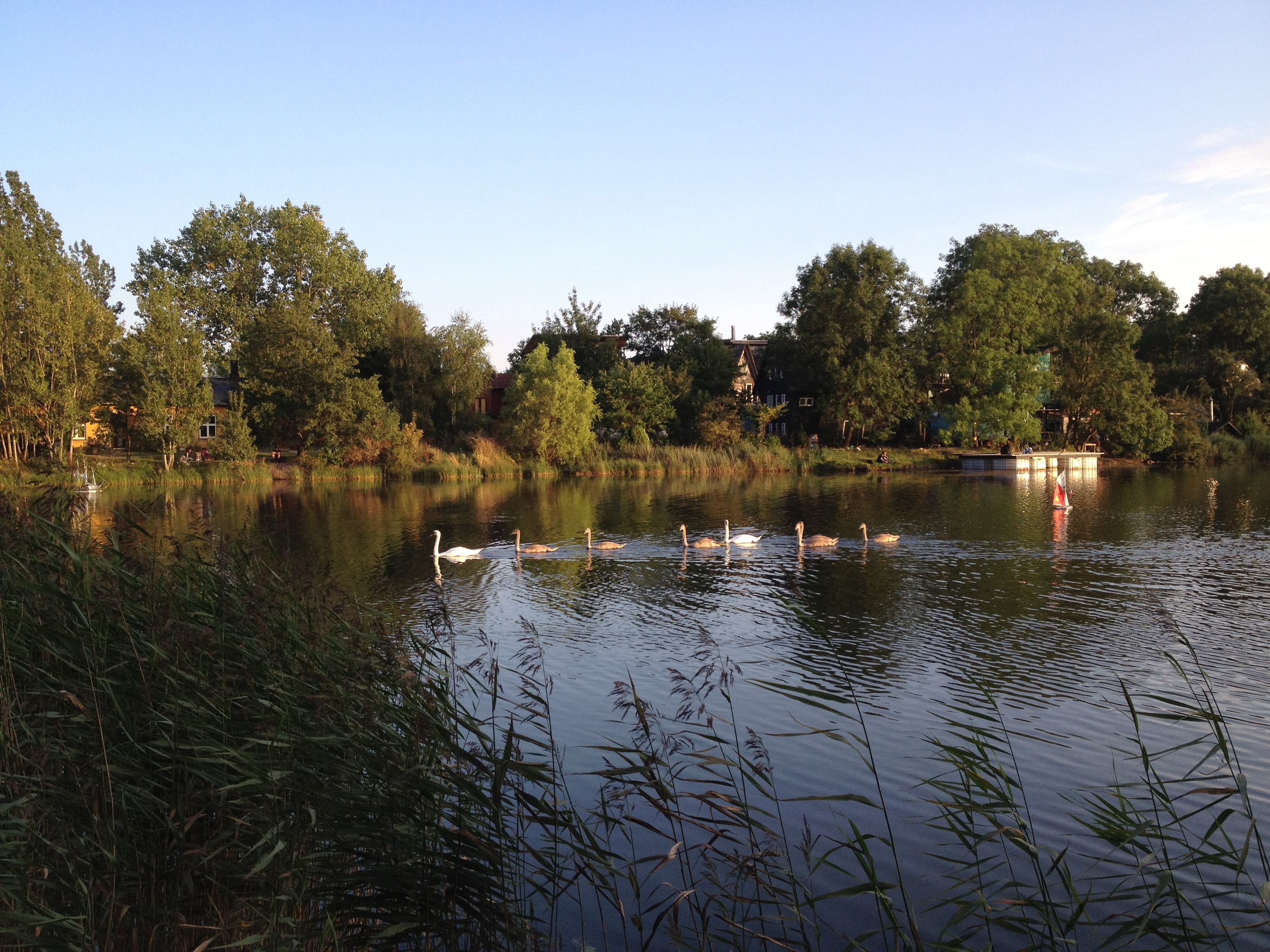 At the lakes around Christiania.
