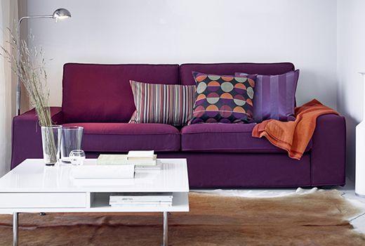ikea couchen wie z b kivik 3er sofa ikea wohnzimmer mit stil pinterest. Black Bedroom Furniture Sets. Home Design Ideas