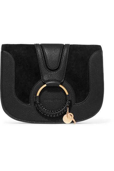 00b0e64d212c4 See by Chloé - Hana Small Textured-leather And Suede Shoulder Bag - Black -