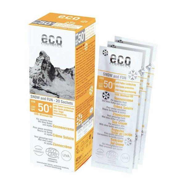ECO-Cosmetics eco SNOW & FUN Sonnenschutz 50+ getönt: https://www.nordjung.de/eco-cosmetics-eco-snow-und-fun-sonnenschutz-50-getoent-20-x-2-ml #naturkosmetik #Sonnenschutz #ecocosmetics