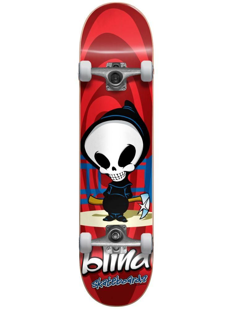 cae92211 Blind Retro Reaper 7.375 First Push Soft Wheel Complete Skateboard MID