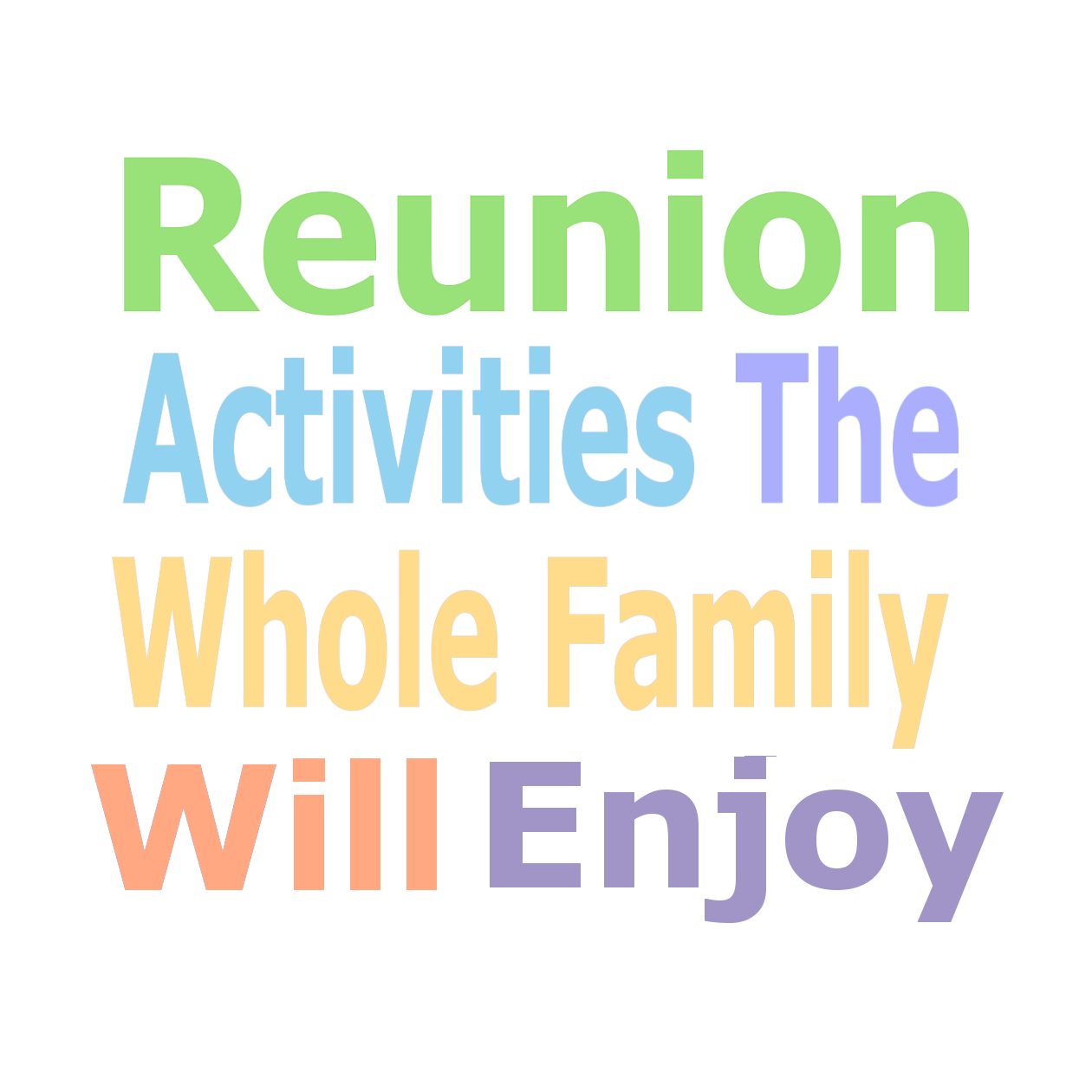 Family reunion planning blog featuring ideas, activities, checklists ...