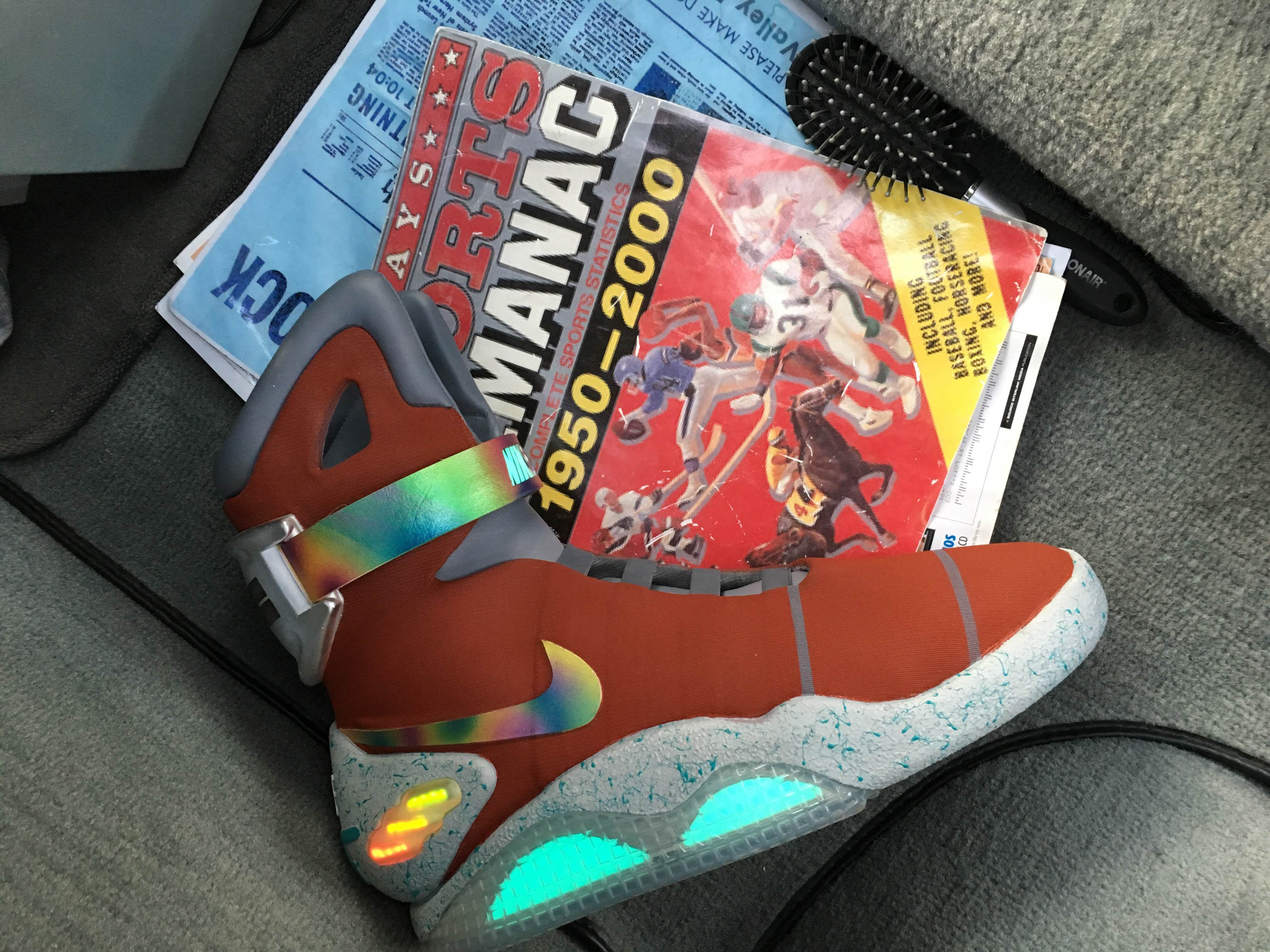 nike air mag red and red